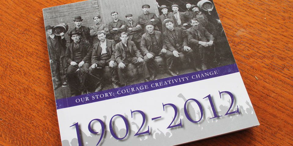 110th year anniversary booklet of the SEIU Local 2 Union