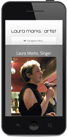 iPhone showing Laura Marks Website