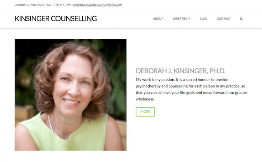 Kinsinger Counselling Website Design