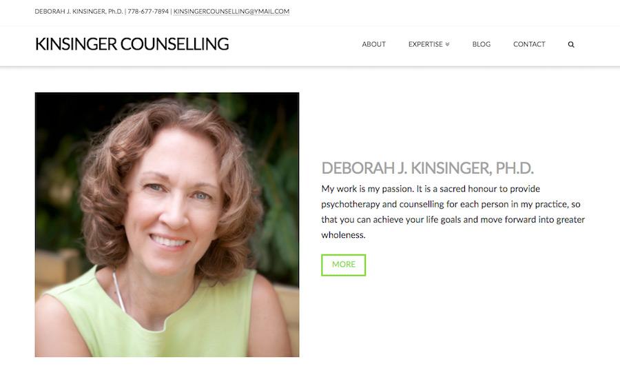 Kinsinger Counselling Website Design