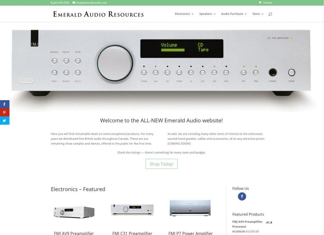 Emerald Audio Website